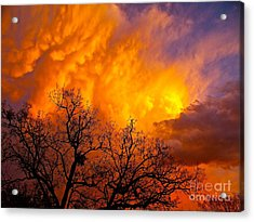 Fire And Water In The Sky Acrylic Print by Chuck Taylor