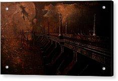 Fire At Diablo Acrylic Print by Jeff Burgess