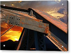 Fire Bridge Acrylic Print by Melvin Kearney