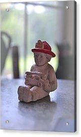 Fire Chief Molded Stone Acrylic Print