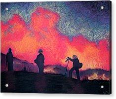 Fire Crew Acrylic Print by Joshua Morton