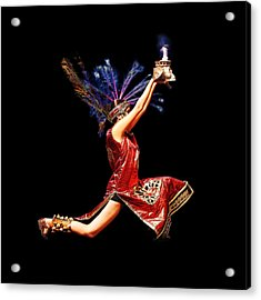 Fire Dancer Acrylic Print
