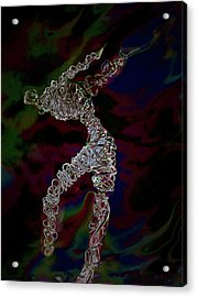 Acrylic Print featuring the photograph Fire Dancer by Irma BACKELANT GALLERIES
