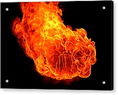 Acrylic Print featuring the photograph Fire by Emanuel Tanjala