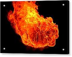 Fire Acrylic Print by Emanuel Tanjala