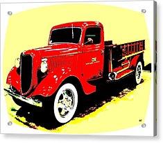 Fire Engine Ok Acrylic Print