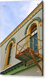 Fire Escape Acrylic Print by Jan Amiss Photography