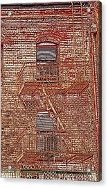 Acrylic Print featuring the photograph Fire Escape by Marie Leslie