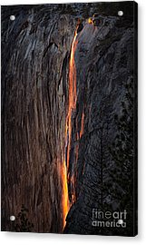 Fire Fall Acrylic Print
