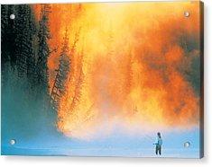 Fire Fly Fishing Acrylic Print by Darwin Wiggett
