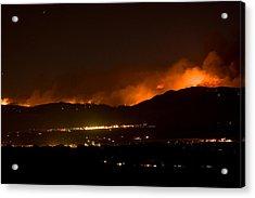 Fire In The Mountains No Lightning In The Air  Acrylic Print by James BO  Insogna