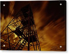 Fire In The Night Acrylic Print