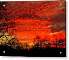 Fire In The Sky Acrylic Print by Aron Chervin