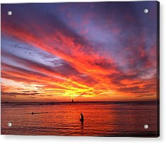 Fire In The Sky Acrylic Print by Erika Swartzkopf