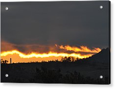 Fire In The Sky Acrylic Print by Jan Amiss Photography