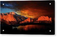 Fire In The Sky Acrylic Print by John Hoffman
