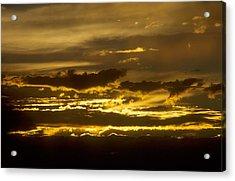 Fire In The Sky Acrylic Print by Lynard Stroud