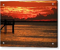 Acrylic Print featuring the photograph Fire In The Sky by Rosalie Scanlon