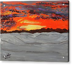 Fire In The Sky Acrylic Print by Swabby Soileau