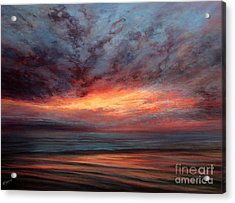 Fire In The Sky Acrylic Print by Valerie Travers