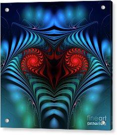 Acrylic Print featuring the digital art Fire Inside by Jutta Maria Pusl