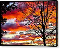 Fire Inthe Sky Acrylic Print by MaryLee Parker