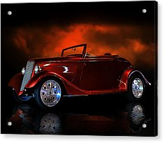 Fire Is The Lightning Acrylic Print by Rat Rod Studios