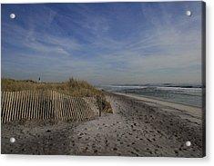 Fire Island Dune Fence Acrylic Print