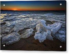 Fire Island Icy Shores Acrylic Print by Rick Berk