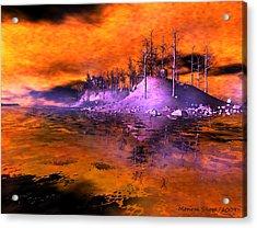 Fire Island Acrylic Print by Monroe Snook