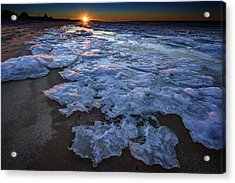 Fire Island Winter Acrylic Print by Rick Berk