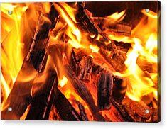 Fire Acrylic Print by Leonard Voicu