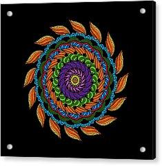 Fire Mandala Acrylic Print