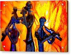 Fire Music Acrylic Print by Danielle Stephenson