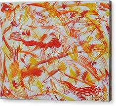 Fire Nymphs Acrylic Print by Sandra Winiasz