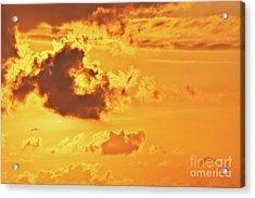 Fire On Sky Acrylic Print