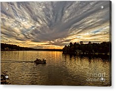 Fire On The Lake Acrylic Print by Pat Carosone