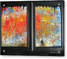 Acrylic Print featuring the painting Fire On The Prairie by Jacqueline Athmann
