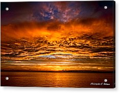 Fire Over Lake Eustis Acrylic Print