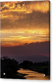 Fire Sky At Sunset Acrylic Print