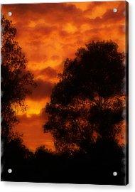 Fire Sky Acrylic Print by Ken Gimmi
