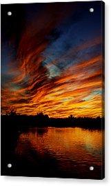 Fire Sky Acrylic Print by Saija  Lehtonen