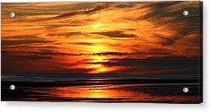 Fire Sky Acrylic Print by Sam Smyth
