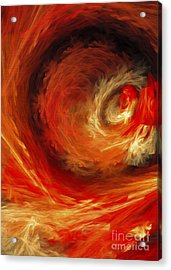 Acrylic Print featuring the digital art Fire Storm Abstract by Andee Design