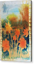 Fire Storm In The Wild Flower Meadow Acrylic Print by Amy Bernays