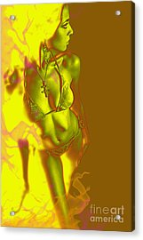 Acrylic Print featuring the digital art Fire by Tbone Oliver