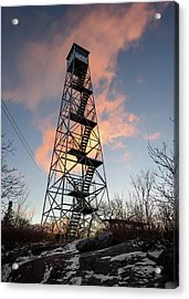 Fire Tower Sky Acrylic Print