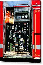Fire Truck Control Panel Acrylic Print by Dave Mills