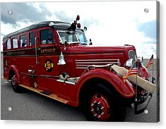 Fire Truck Selfridge Michigan Acrylic Print
