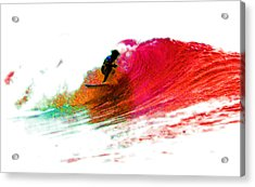 Fire Water Acrylic Print by David Coyle
